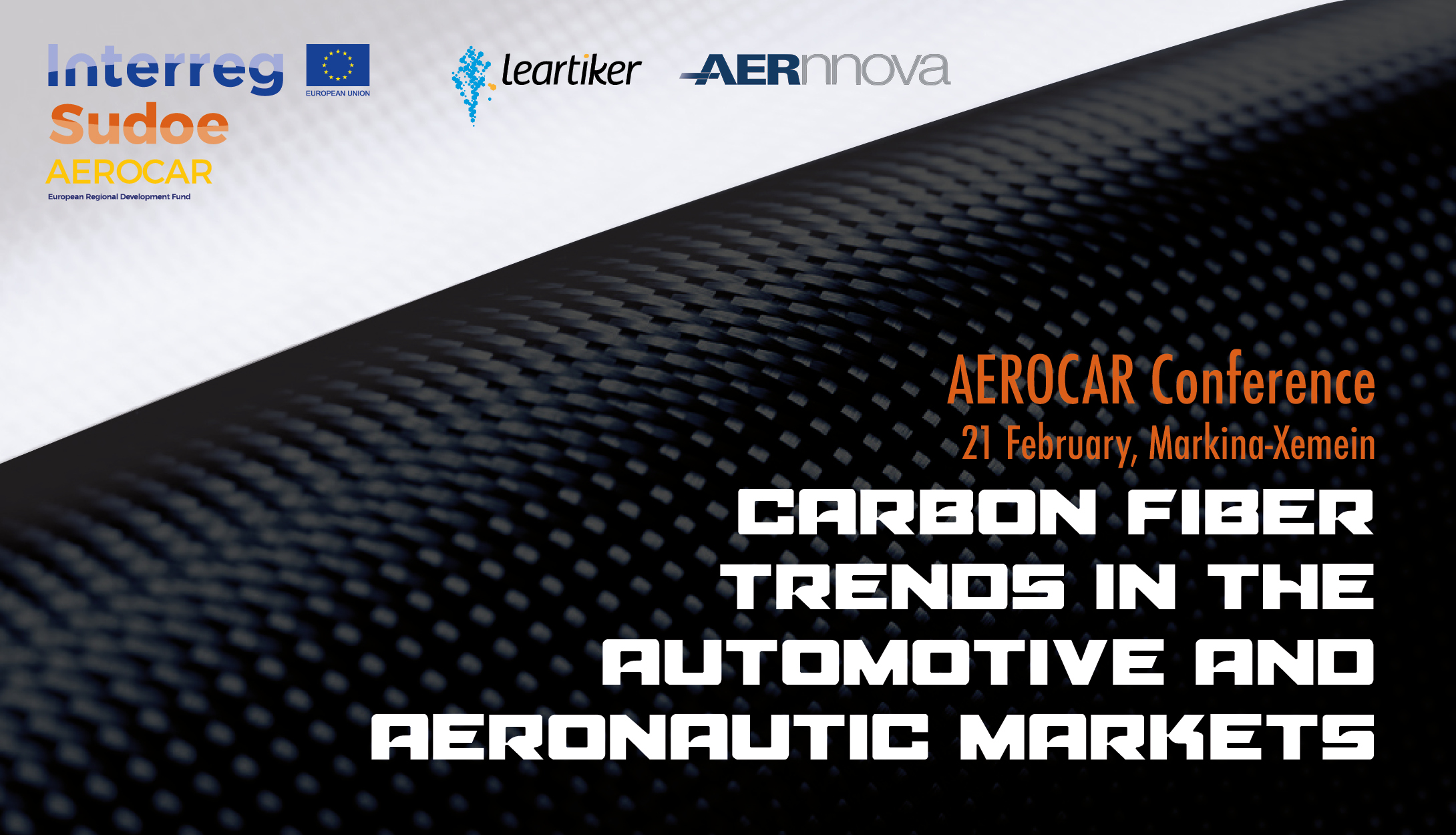 The carbon fibre will be the star of the conference that will take place next February 21